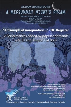 SOC's A MIDSUMMER NIGHT'S DREAM Adds Two More Performances, 7/31 & 8/1