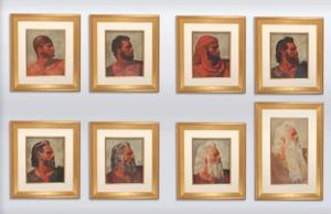 Arnold Friberg's Original Eight Faces of Moses from the 1956 Film THE TEN COMMANDMENTS Up for Auction Today