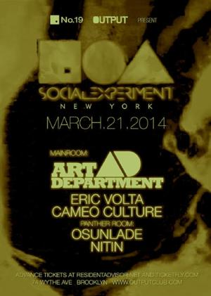 Output to Launch New No. 19 Social Experiment DJ Residency, 3/21