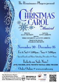 Renaissance Players Revive A CHRISTMAS CAROL, THE MUSICAL For 2012 Holiday Season Run