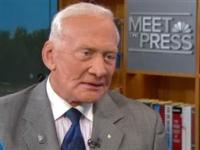 Astronaut Buzz Aldrin Visits NBC's MEET THE PRESS
