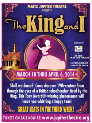 Maltz Jupiter Theatre Presents THE KING AND I, 3/18-4/6