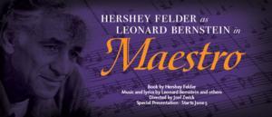 Berkeley Rep Presents HERSHEY FELDER AS LEONARD BERNSTEIN IN MAESTRO, Now thru 6/22