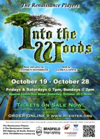 Brown Helms Renaissance Players' Production of INTO THE WOODS, Opens 10/19