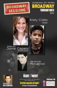 Kristy Cates, Jaime Cepero and More Join BROADWAY SESSIONS, Nov 8