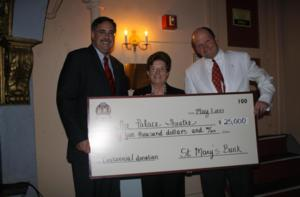 St. Mary's Bank Donates $25,000 to Palace Theatre