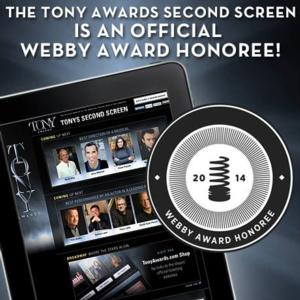 2013 Tony Awards' Second Screen Honored in 18th Annual Webby Awards!