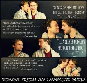 Only 9 Performances Left of SONGS FROM AN UNMADE BED, Now Through 4/27