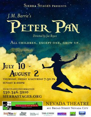 Sierra Stages to Present J.M. Barrie's PETER PAN, 7/10-8/2