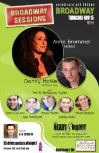BROADWAY SESSIONS Welcomes Anne Brummel, Danny McNie, Jennifer Paz and More, Nov 15