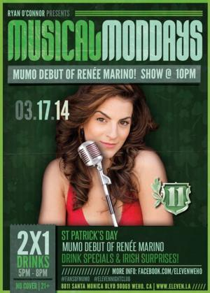 Musical Mondays LA Celebrates St. Patrick's Day with Renee Marino