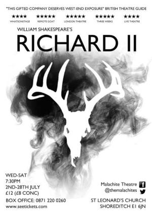 Malachite Theatre Company to Present RICHARD II at St. Leonard's Church, Begins Today