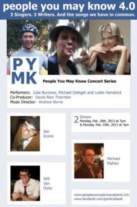 PEOPLE YOU MAY KNOW, 4.0 to Feature Joe Iconis, Will Van Dyke and More, 2/18 & 25