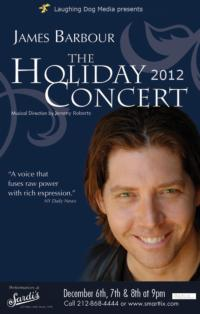 James Barbour Presents Fifth Annual Holiday Concert at Sardi's, 12/6-12/8