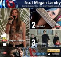 Megan Landry's 'Dancing in The Dark' Tops BEAT100 Originals Music Video Chart