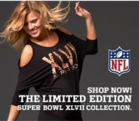 NFL Launches Collection of Fashionable Women's Apparel for the Superbowl