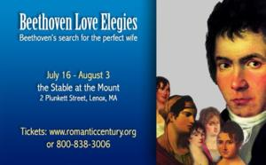 The Ensemble for the Romantic Century Presents BEETHOVEN LOVE ELEGIES, 7/16-8/3