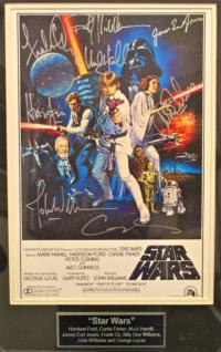 STAR WARS Autographed Poster Up for Auction at Chenango River Theatre's Winter Gala