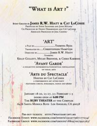 WHAT IS ART? Event Set for The Complex's Ruby Theatre, 1/18-2/3