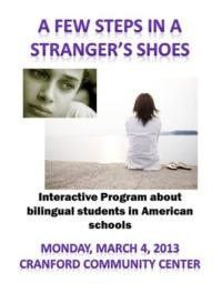 The Theater Project to Present A FEW STEPS IN A STRANGER'S SHOES at Cranford Community Center, 3/4