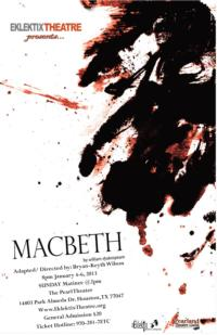 Eklektix Theater Presents MACBETH, Jan 4-6