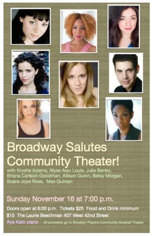 'Broadway Salutes Community Theater' to Support BPCMT at the Beechman This Sunday