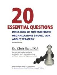 New Book Helps Not-For-Profit Directors With Their Strategic Responsibilities