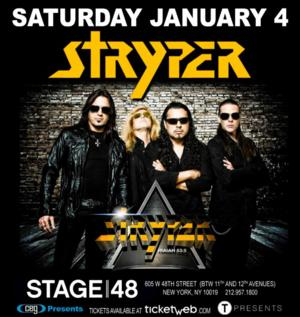 Stryper Performs with Saviour Tonight at Stage 48 in NYC