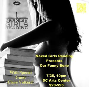 Naked Girls Reading to Present OUR FUNNY BONE, 7/25