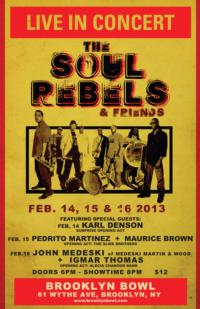 THE SOUL REBELS To Headline Three Nights At Brooklyn Bowl, 2/14-16