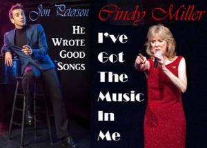 Downstairs Cabaret Theatre to Welcome Cindy Miller and Jon Peterson, Starting 7/5
