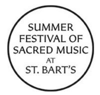 Summer Festival of Sacred Music at St. Bart's Continues 9/2