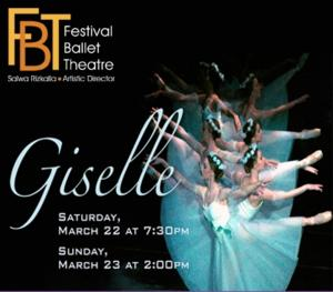Festival Ballet Theatre Presents GISELLE, 3/22-23