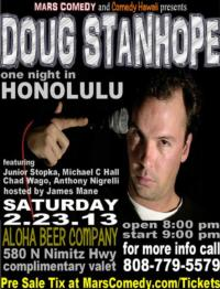 Mars Comedy and Comedy Hawaii presents Doug Stanope for One Night Only, 2/23