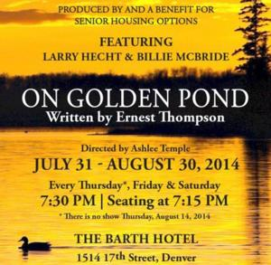 Senior Housing Options to Present ON GOLDEN POND for 2014 Fundraiser, 7/31-8/30