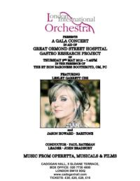 Lesley Garrett and Jason Howard Headline Gala Charity Concert at Cadogan Hall, May 2