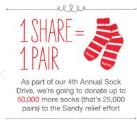 Hanes and The Salvation Army Launch Fourth Annual Sock Drive