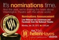 theatreWashington to Host First-Ever Webcast of D.C.'s Helen Hayes Award Nominations, 1/28