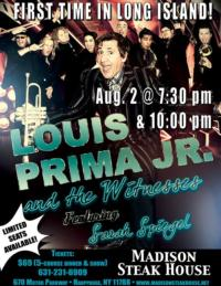 Louis Prima Jr. Makes Long Island Debut at Madison's Steak House Tonight
