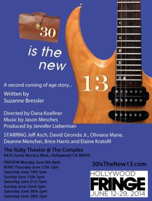 Rookie Productions to Stage 30 IS THE NEW 13 at Hollywood Fringe, 6/9-28