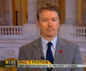 Sen Paul Rand (R) Talks State of the Union Address on CBS