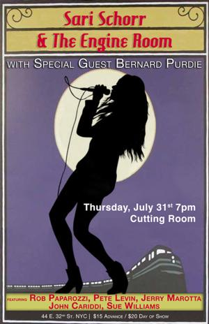 Powerhouse Vocalist Sari Schorr and Her All-Star Band at The Cutting Room, 7/31