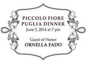Piccolo Fiore Ristorante to Celebrate Puglia with Food and Song, 6/5