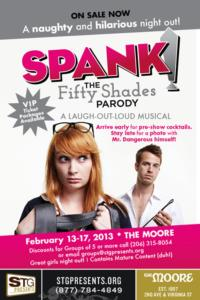 SPANK! The Fifty Shades Parody Plays STG's Moore Theatre, Now thru 2/17