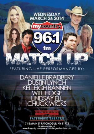 MY COUNTRY 96.1 FM MATCH UP with THE VOICE's Danielle Bradbery & More Set for Patchogue Theatre, 3/26