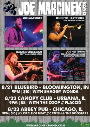 Jennifer Hartswick & Natalie Cressman to Perform with Joe Marcinek Band
