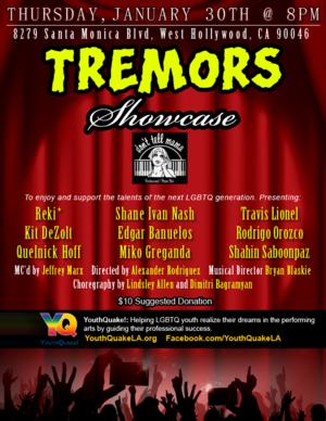 YouthQuake! Hosts First-Ever Showcase, TREMORS, at Don't Tell Mama Tonight