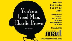 m.a.d. Theatre to Stage YOU'RE A GOOD MAN, CHARLIE BROWN, 2/6-23