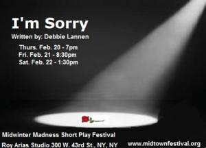 Anti-Bullying Play I'M SORRY to Play MITF in NYC, 2/20-22
