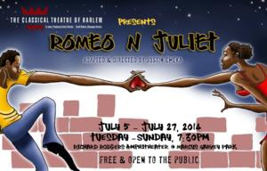 ROMEO N JULIET Opens This Weekend, 7/5, at the Classical Theatre of Harlem